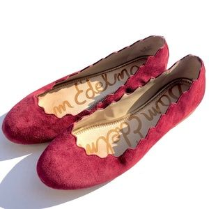 Sam Edelman • Francis Flat in Tango Red Suede